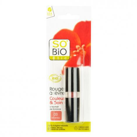 SO'BIO étic rtěnka 03 bois de rose 4,5 g