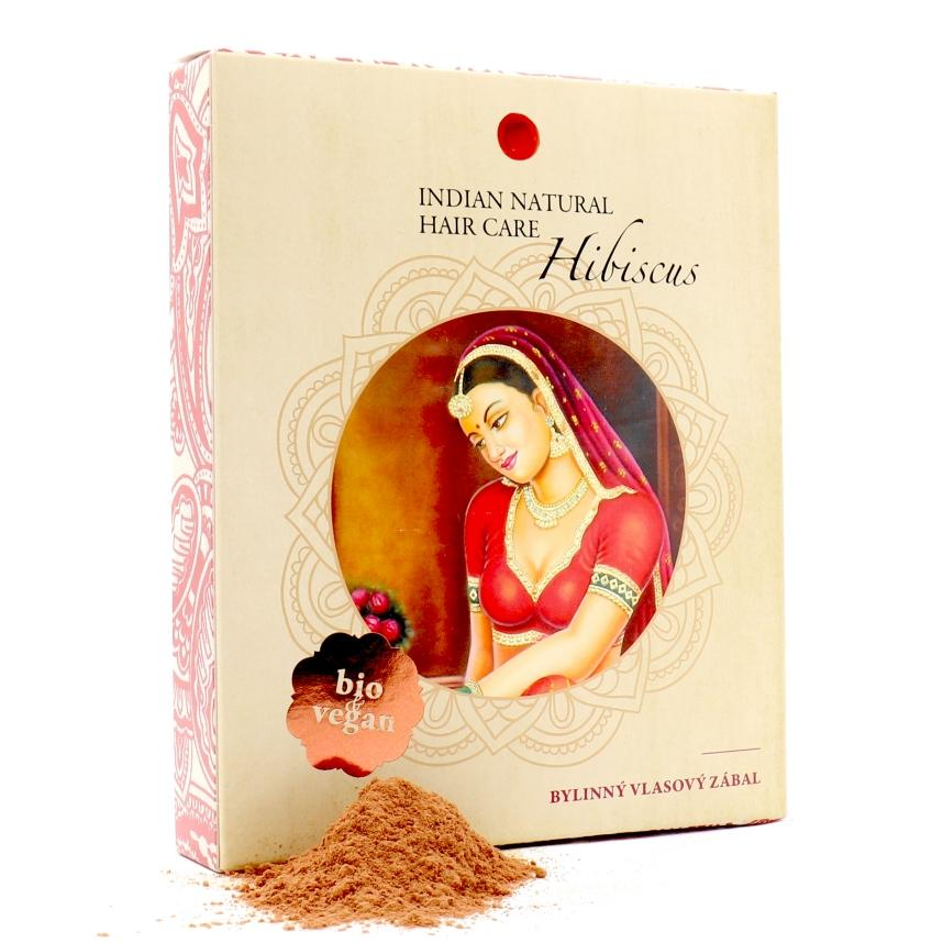 INDIAN NATURAL HAIR CARE Hibiscus 200g - vlasový zábal